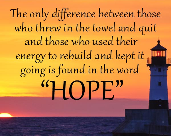 Inspirational Quotes On Pinterest: Hope Keeps Us Moving Forward